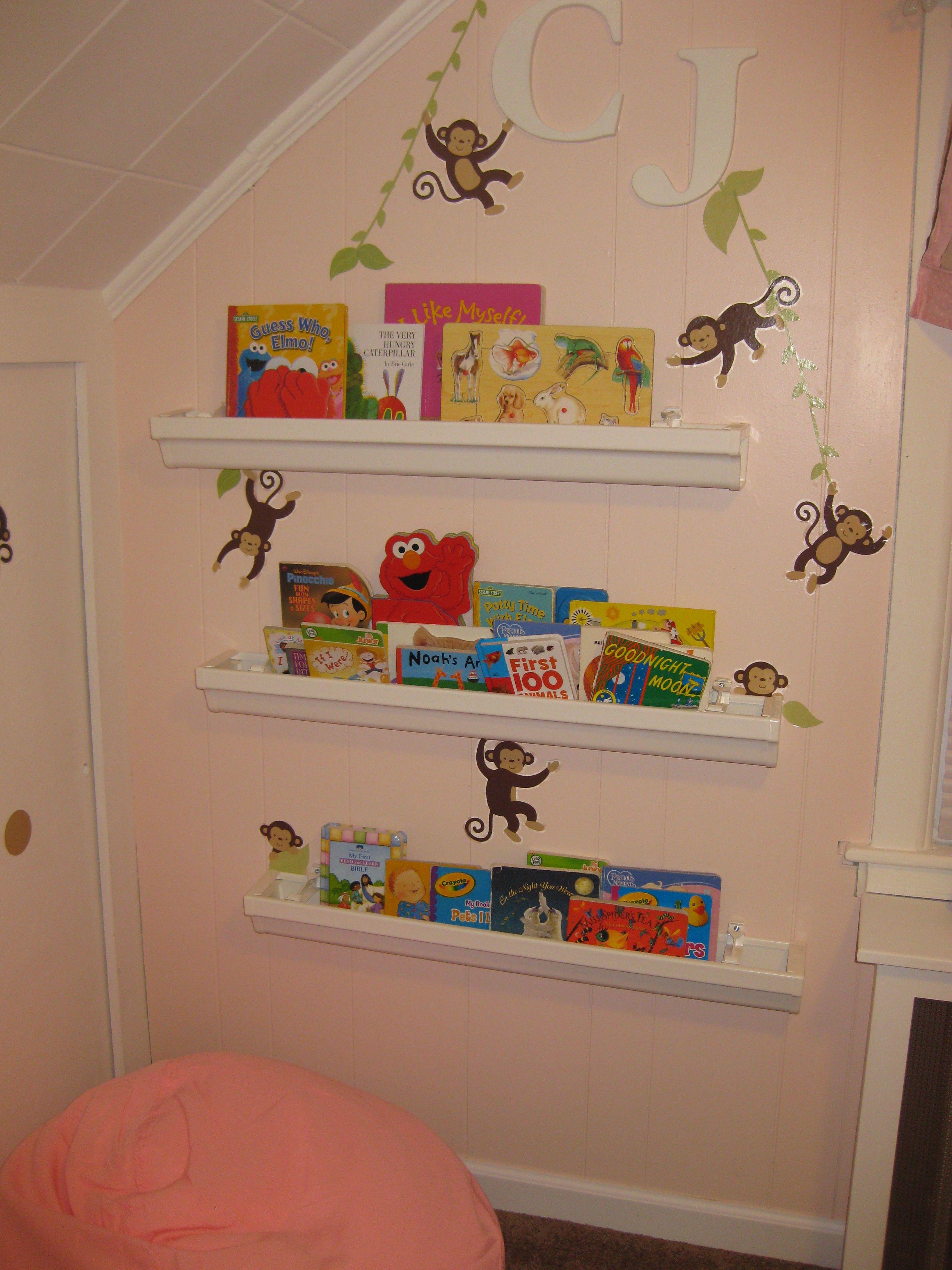 Do It Yourself Bookshelf Ideas: Do It Yourself Project: Rain Gutter Bookshelves