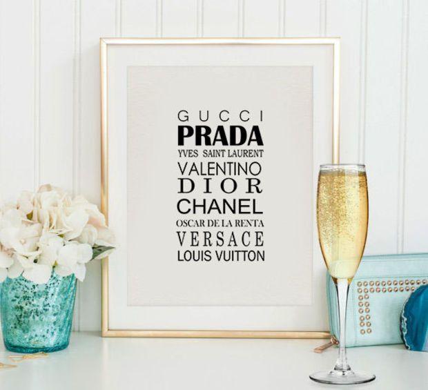 48328a1f91d97 Fashion poster,Gucci Prada Chanel Versace,Fashion print,Coco Chanel ...