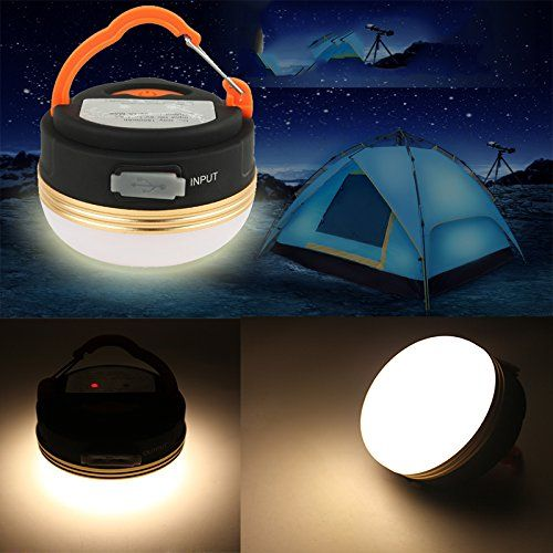 Outdoor Camping Hiking Light Lantern Rechargeable Led Usb Tent