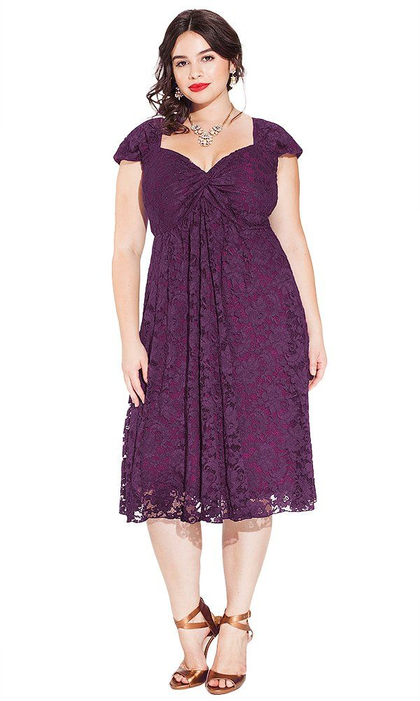 eb6166915f1 IGIGI Women s Plus Size Rachelle Lace Dress in Plum 22 24