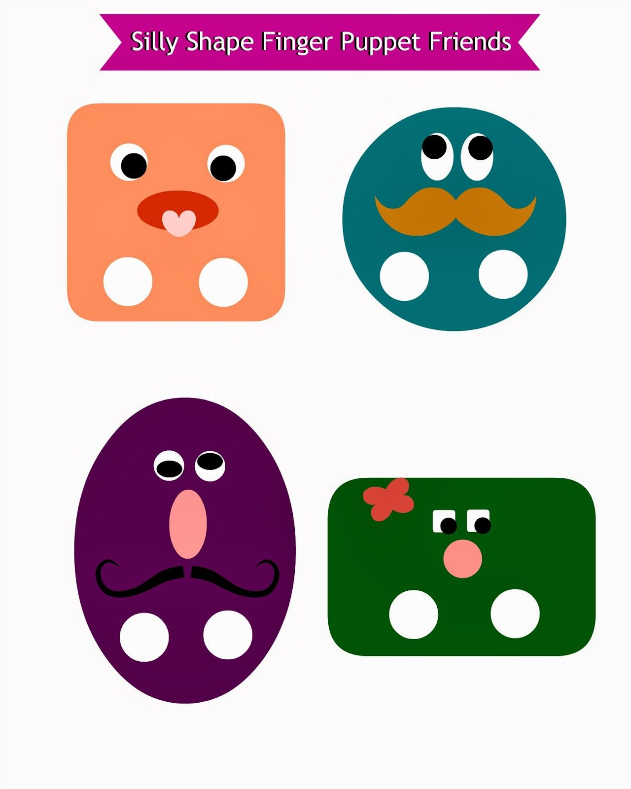 Free Silly Shape Friends Printable