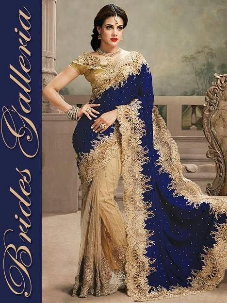 How to wear saree in bollywood style dresses