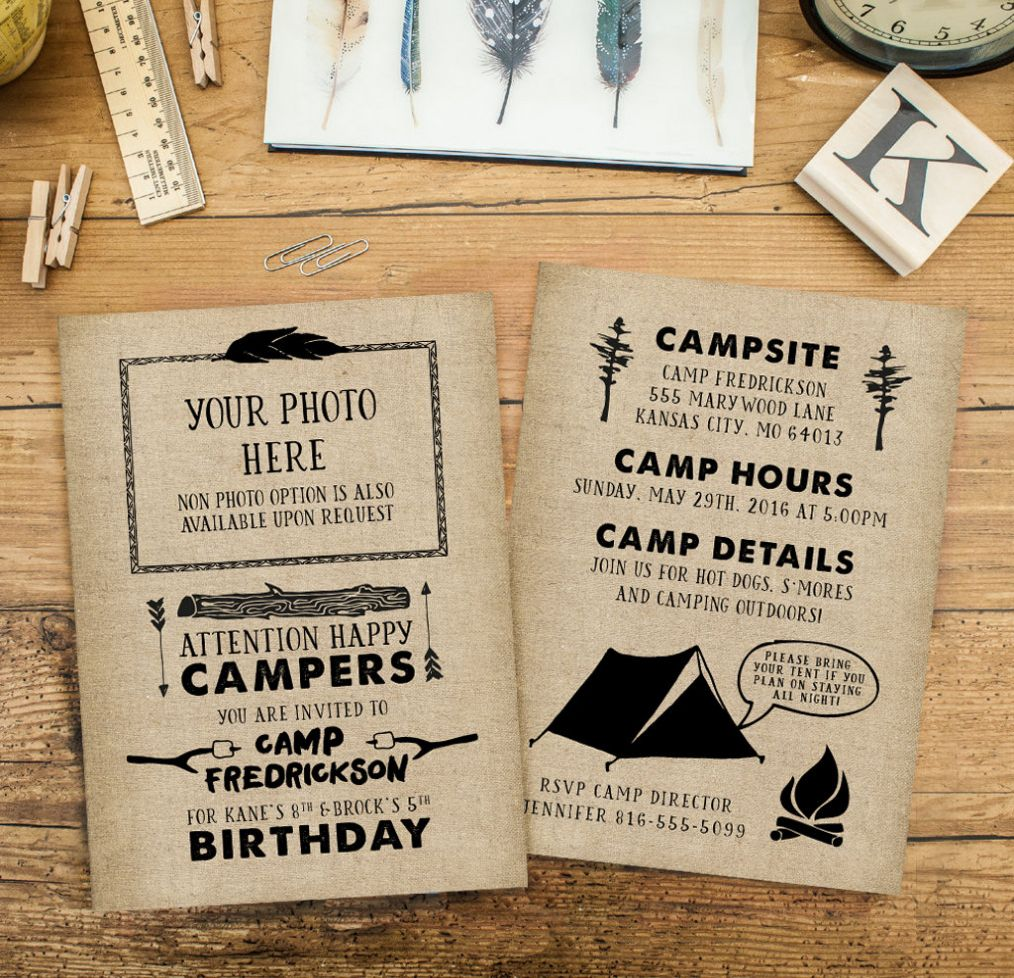Image Result For Smores Kids Party Invite Birthday Party Camping