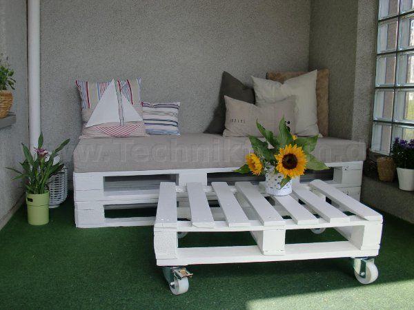 Fertig: Loungesofa Und Tisch Aus Paletten