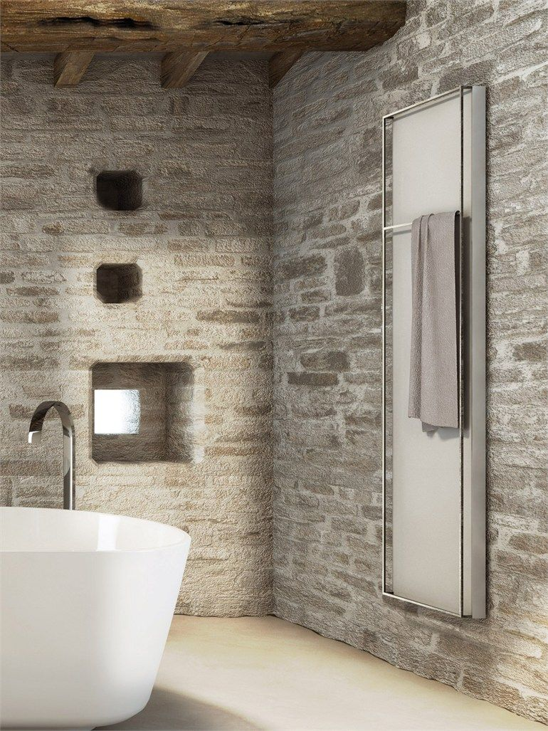 Steel Towel Warmer Light By Scirocco H Design Marco Fumagalli