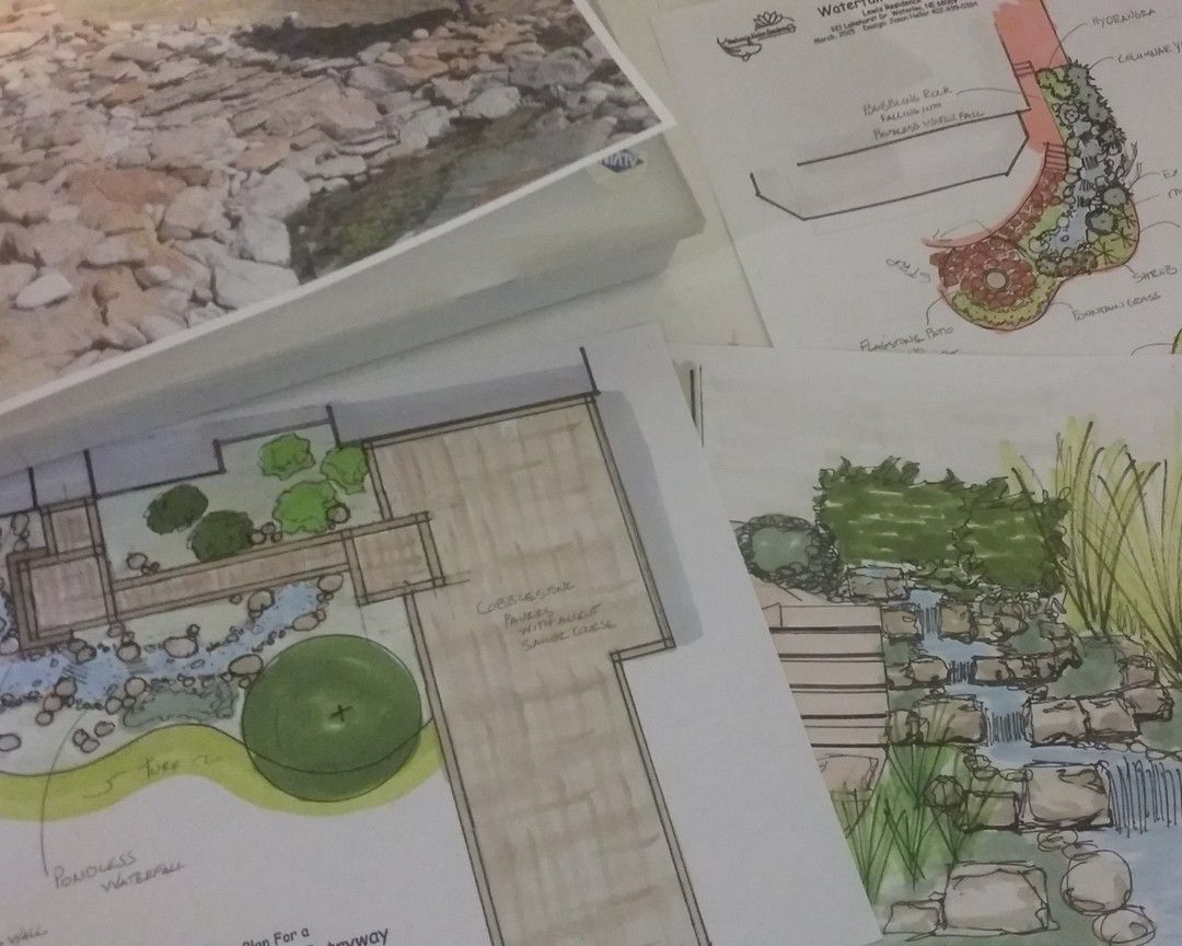 #tiptuesday. Winter is a great time to gather your ideas and to begin making plans for your spring and summer projects! The designers at Neptune's Water Gardens can help you bring those ideas to reality. #thinkspring #omahaponds