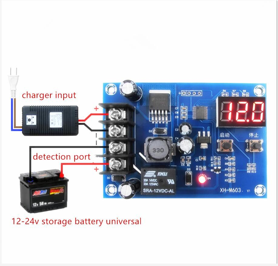 Charge Control Module 12 24v Storage Lithium Battery Protection Board Xh M603 Lithium Battery Charger Lithium Battery Battery