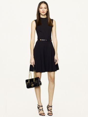 Fit-and-Flare McClure Dress - Black Label  Short Dresses - RalphLauren.com