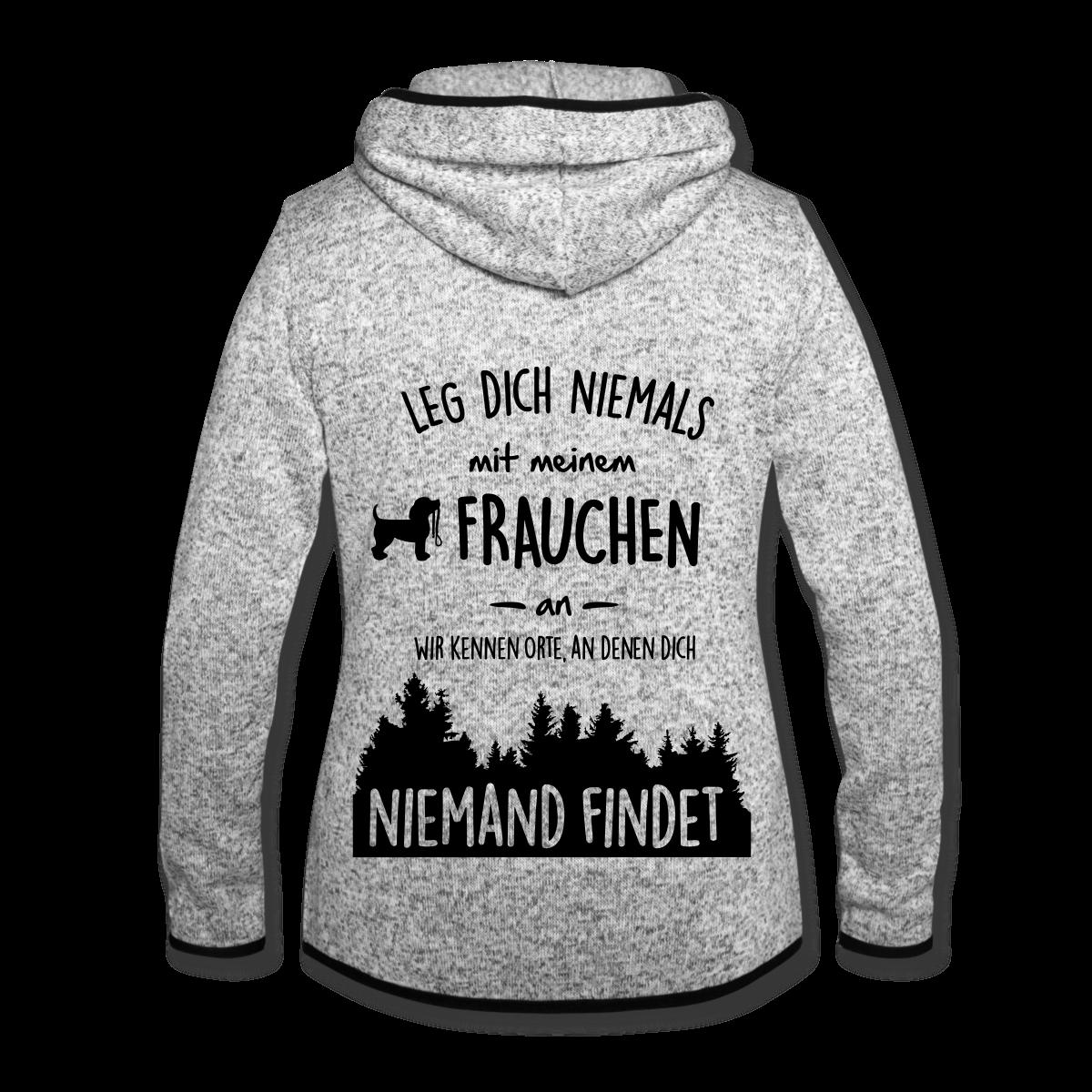 Hund Leg Dich Nie Mit Frauchen An Frauen Premium T-Shirt