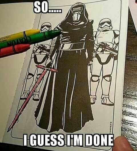 Star Wars Coloring Book Humor Kylo Ren Star Wars Humor Star Wars Memes Star Wars