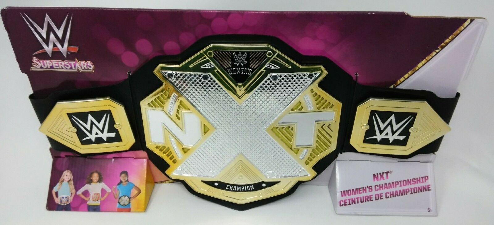 WWE NEW W17 NXT SUPERSTARS WOMEN/'S CHAMPION Kids Toy Replica Play Title Belt
