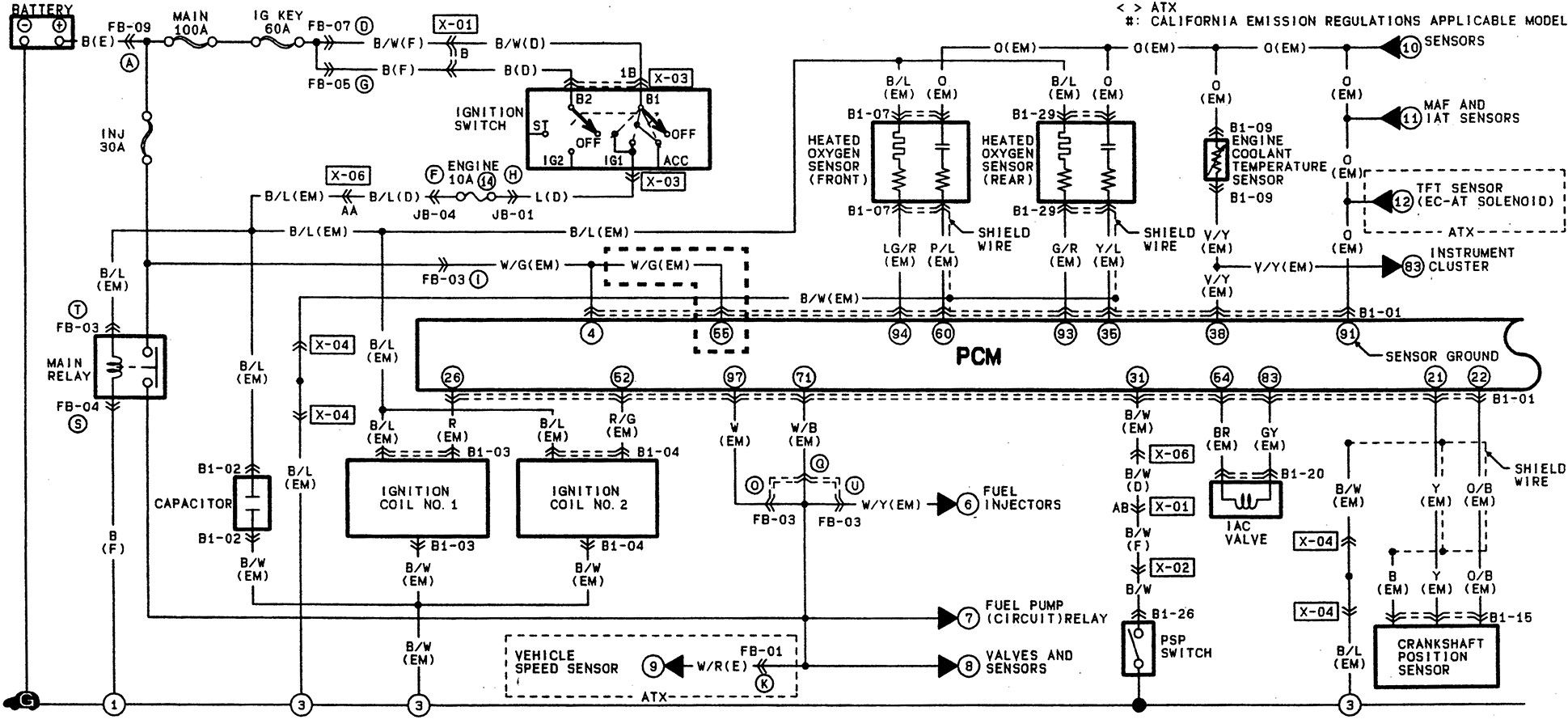 Mazda 323 1993 Wiring Diagram Electrical Schematics 1988 626 Engine Beautiful Positions Pinterest