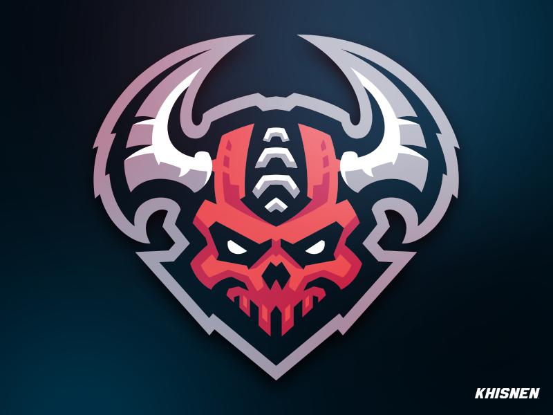 Demons In 2020 Game Logo Design Skull Logo Sports Logo Design