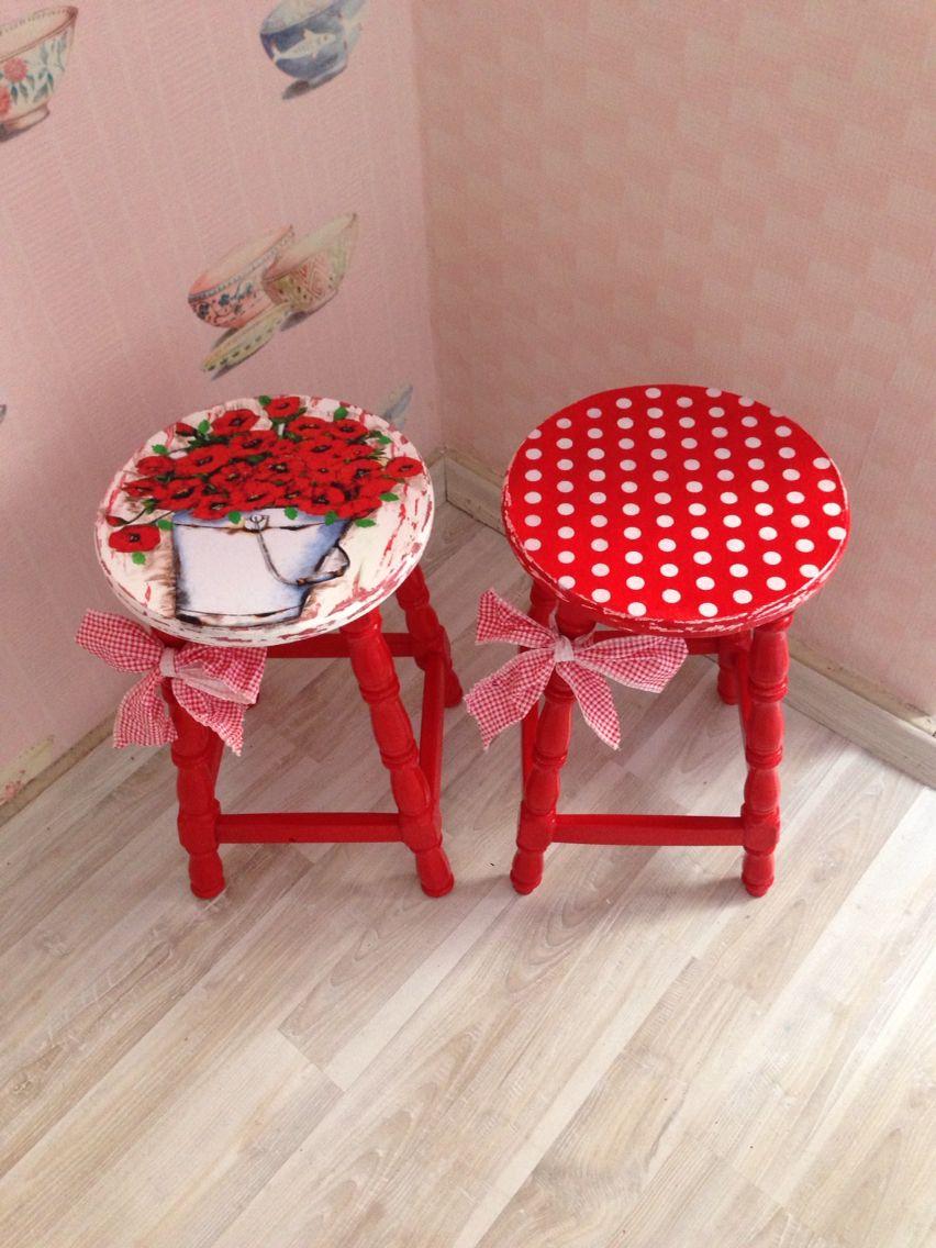 tabure stool tabureler stool pinterest bunte st hle bemalte m bel und m bel restaurieren. Black Bedroom Furniture Sets. Home Design Ideas
