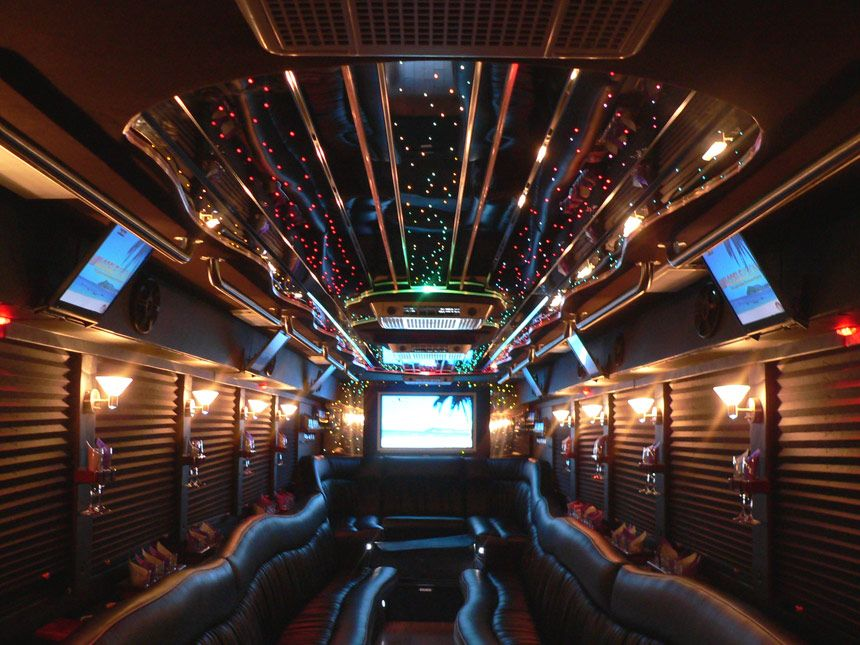 50 passenger limo party bus party bus party bus rental