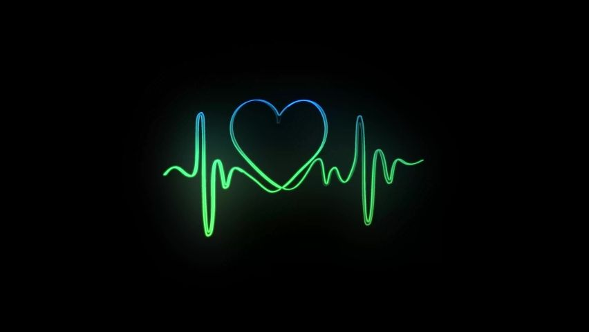 Abstract Seamless Line Heart Beat. Stock Footage Video (100% Royalty-free) 1059247373 | Shutterstock