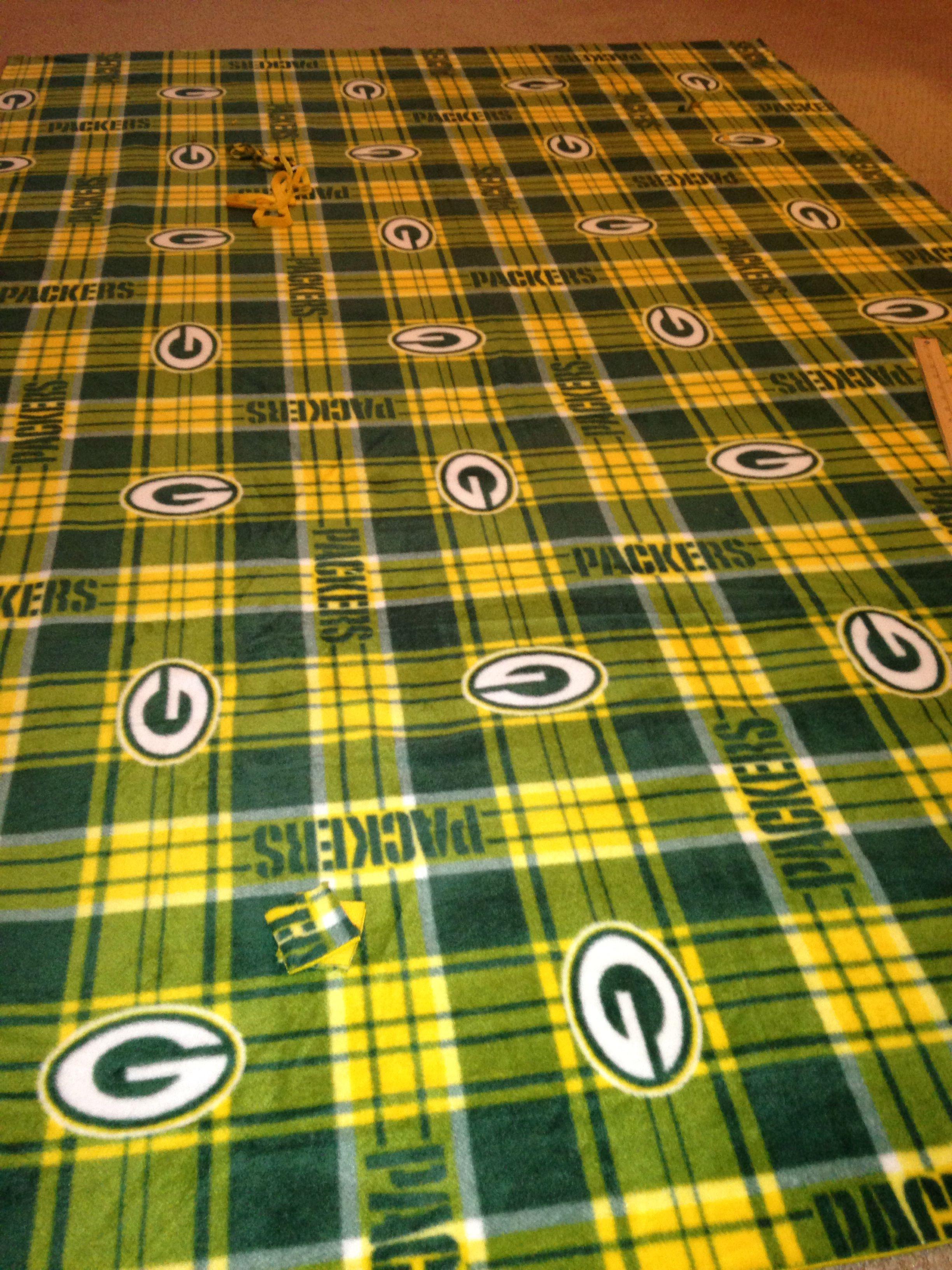My packer blanket diy tie blankets pinterest tie blankets and