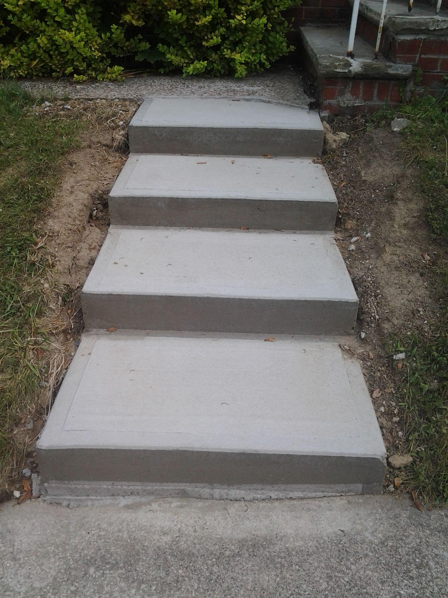 Masonry Steps: Poured New Concrete Steps Www.northcoastmasonry.com