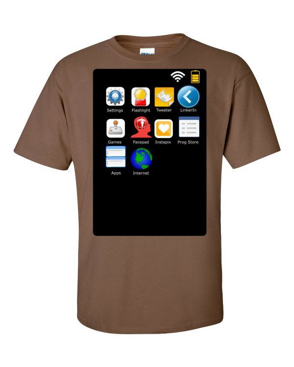 Smartphone Short sleeve t-shirt