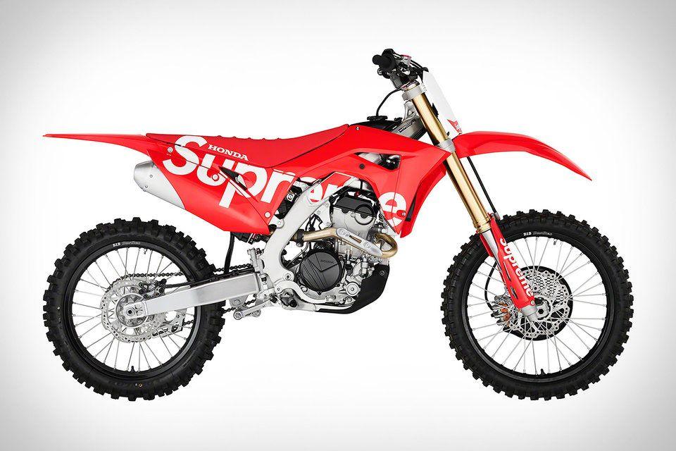Honda X Supreme Crf 250r Dirt Bike In 2020 Honda Dirt Bike Dirt Bike Honda