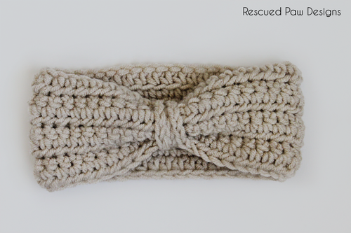 Crochet Chained Ear Warmer Pattern by Rescued Paw Designs | Tocados ...