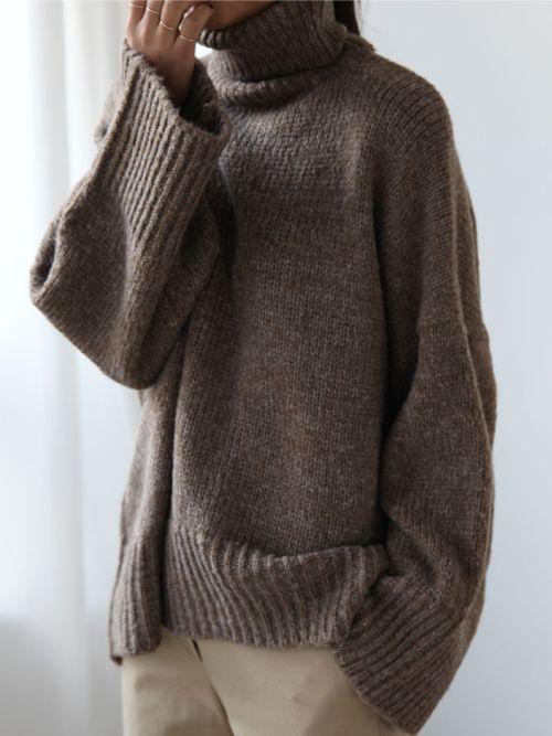 Ulla Johnson Brown Turtleneck Sweater.    Winter Style Inspo ...