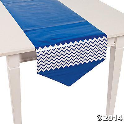 Blue Chevron Table Runner