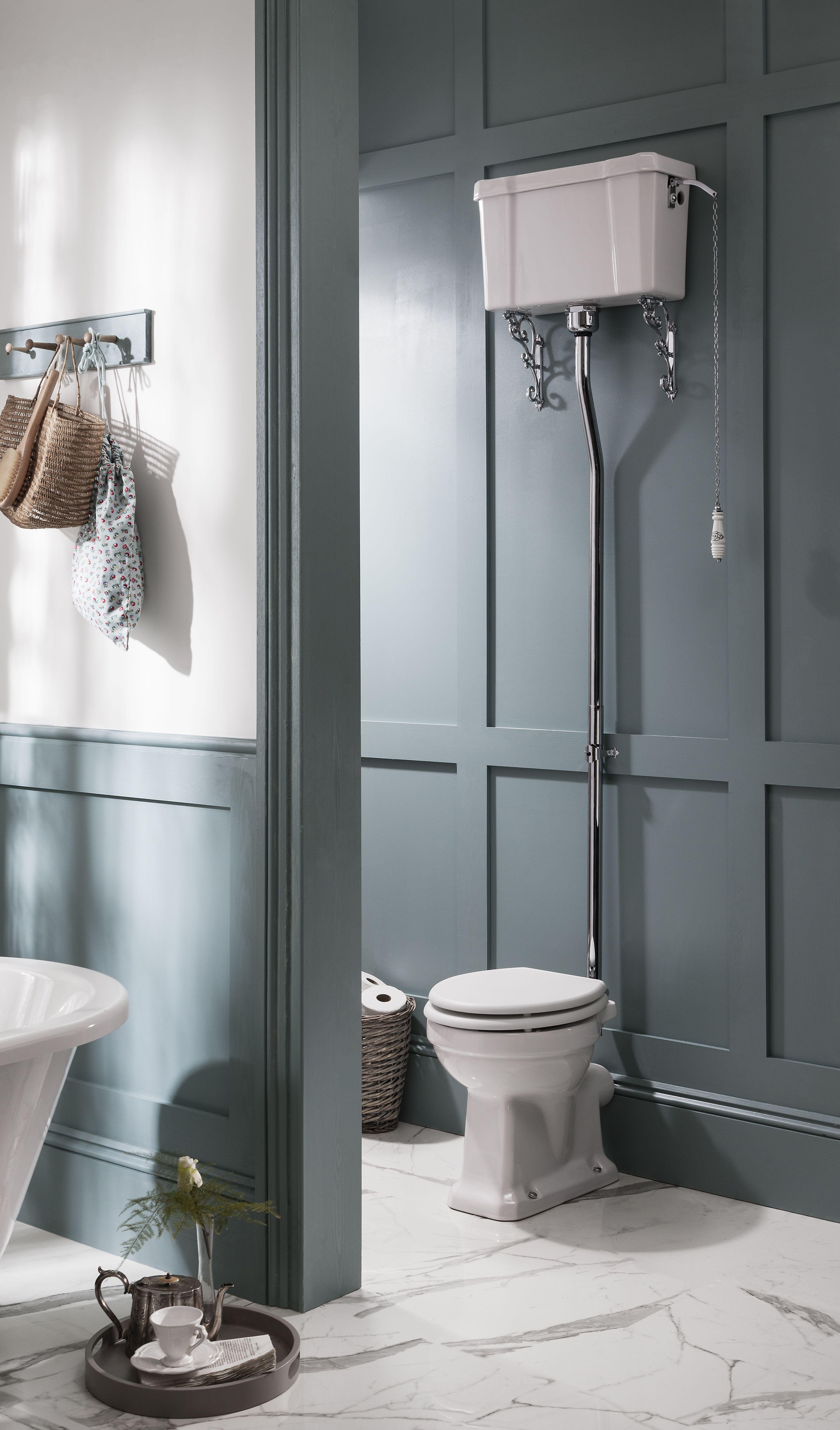 Burlington High Level Cistern Bathroom Accessories Luxury