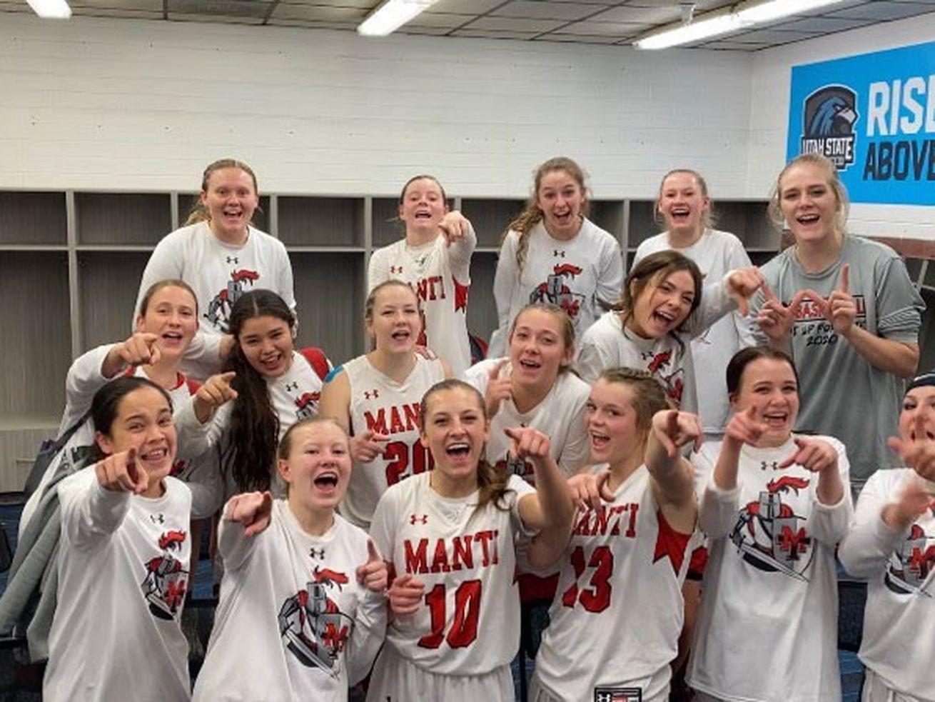 High School Girls Basketball Manti Rallies Past Delta San Juan Ousts Defending Champ Emery In 3a Second Round In 2020 Basketball Girls S Girls Girls Softball