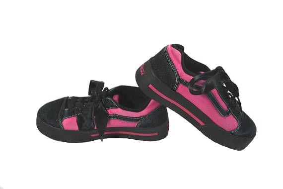 becdb27f18 Vintage Platform Sneakers Vintage Vans Sneakers Black and Pink ...