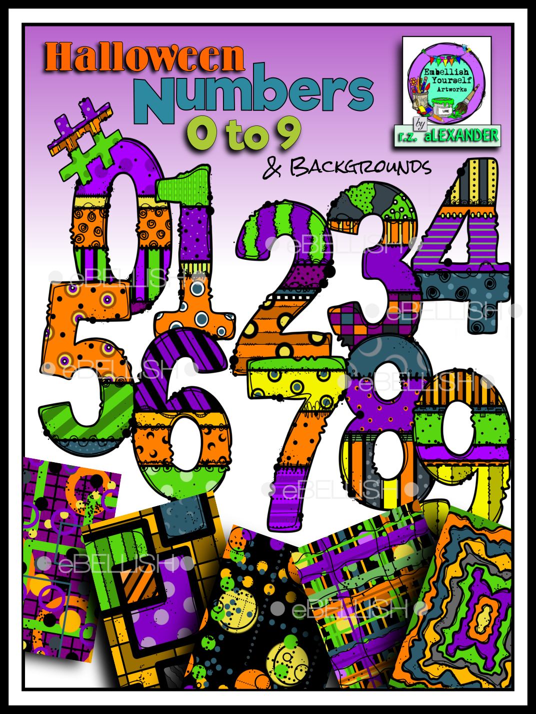 Halloween Numbers 0 9 Amp Backgrounds