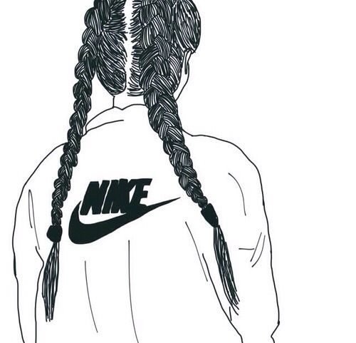 Image De Nike Outline And Tumblr Dessin Noir Et Blanc Dessins