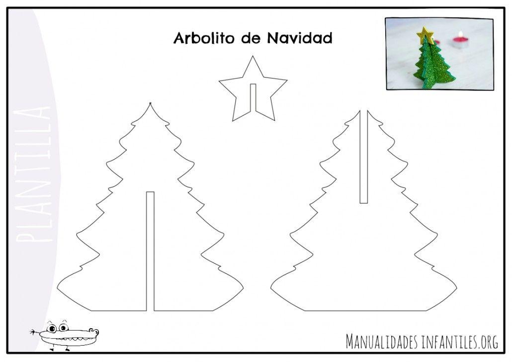 Plantillas para adornos de Navidad   Plantilla árbol de navidad ...