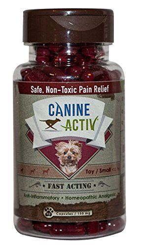 CanineActiv Small Breed Safe Non-Toxic Pain Relief for Dogs Weighing Less than 25 lbs, Bottle of 90 Capsules (150 mg) * See this great product.
