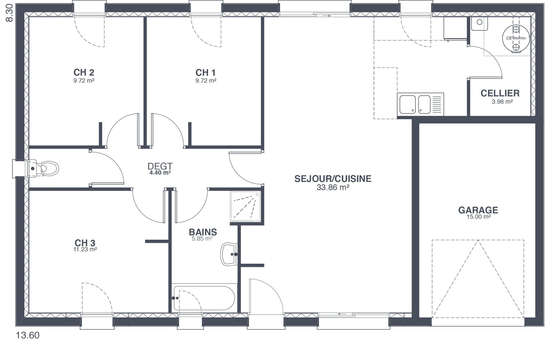 styl habitat focus 80 plan de maison