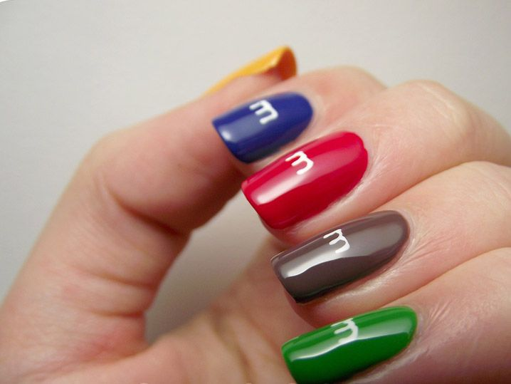 I would love to do these M & M nails but not sure how to paint