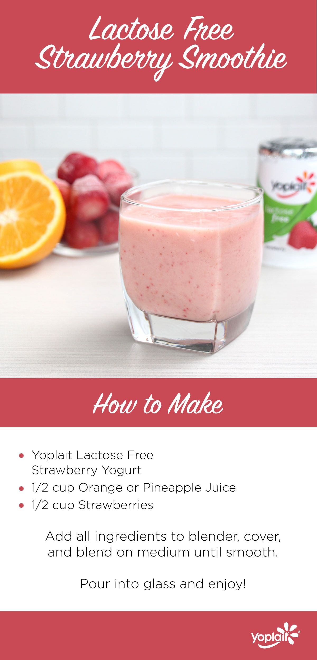 Yoplait Lactose Free Strawberry Yogurt Smoothie So Tasty You Won T Notice The Difference