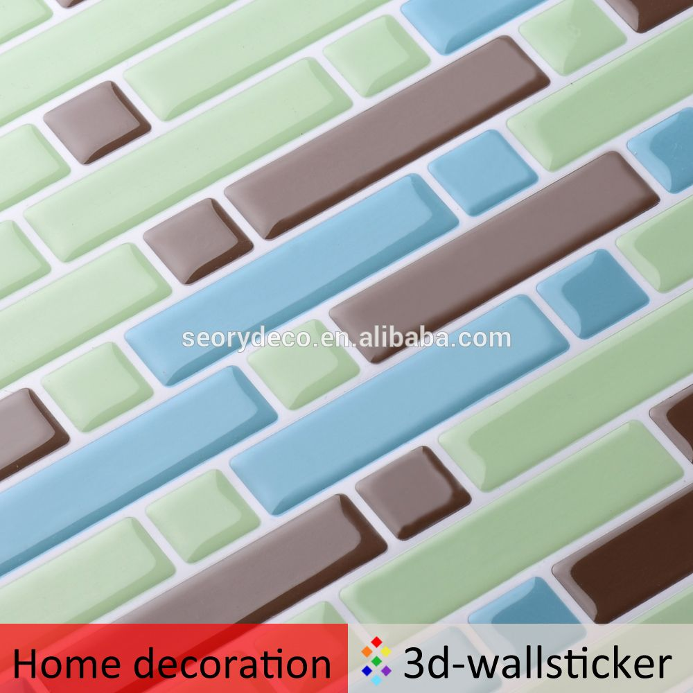 Oil-proof light weight thickness strip tile for kitchen wall refresh ...