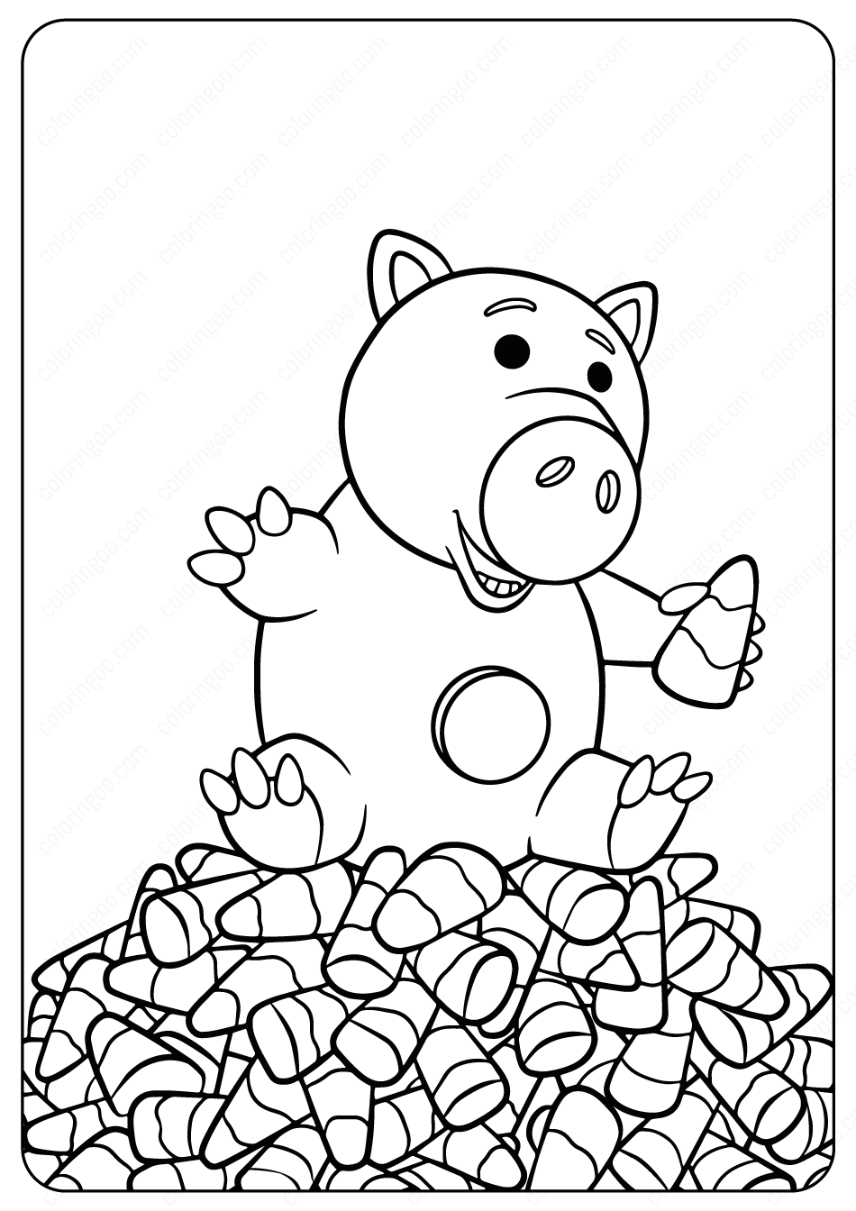 Hamm Halloween Coloring Pages Cartoon Coloring Pages Halloween Coloring Pages Coloring Pages