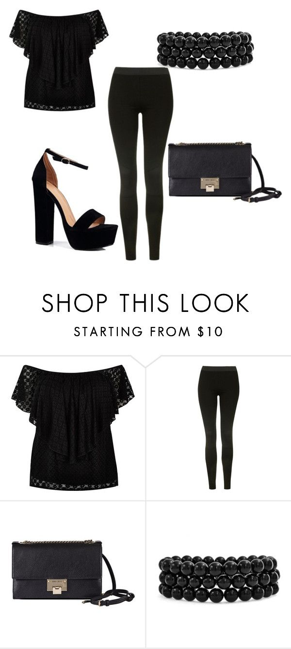 """""""Love my life"""" by newilliams-i ❤ liked on Polyvore featuring River Island, Topshop, Jimmy Choo, Bling Jewelry and Boohoo"""