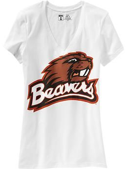 Women's College Team V-Neck Tees | Old Navy...perfect for casual fridays at school.
