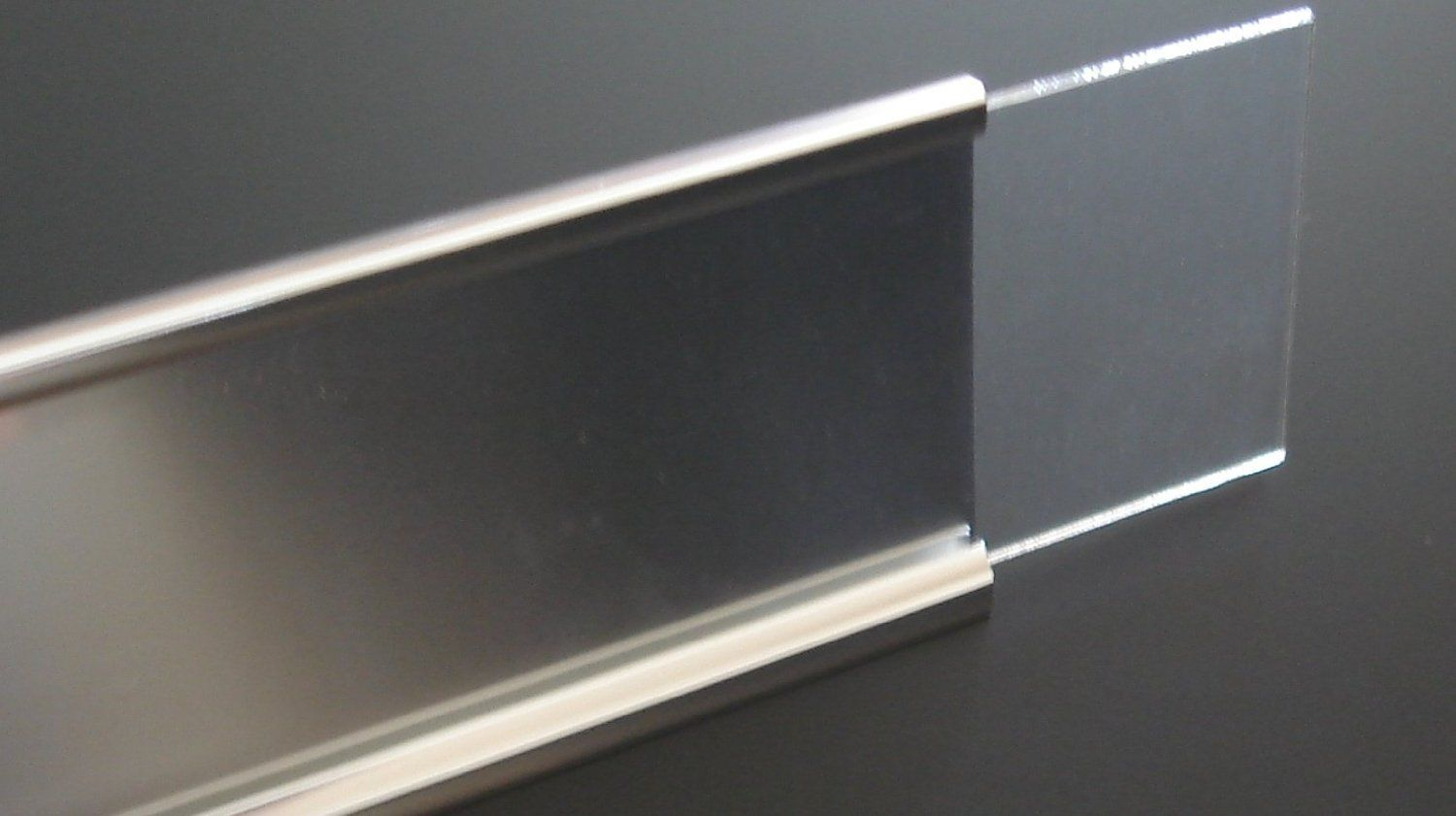 Amazon Com 2x8 Wall Name Plate Holder With Clear Plastic Insert Make Your Own Name Plates Comes In Black Silver Or Plate Holder Name Plate Cubicle Design
