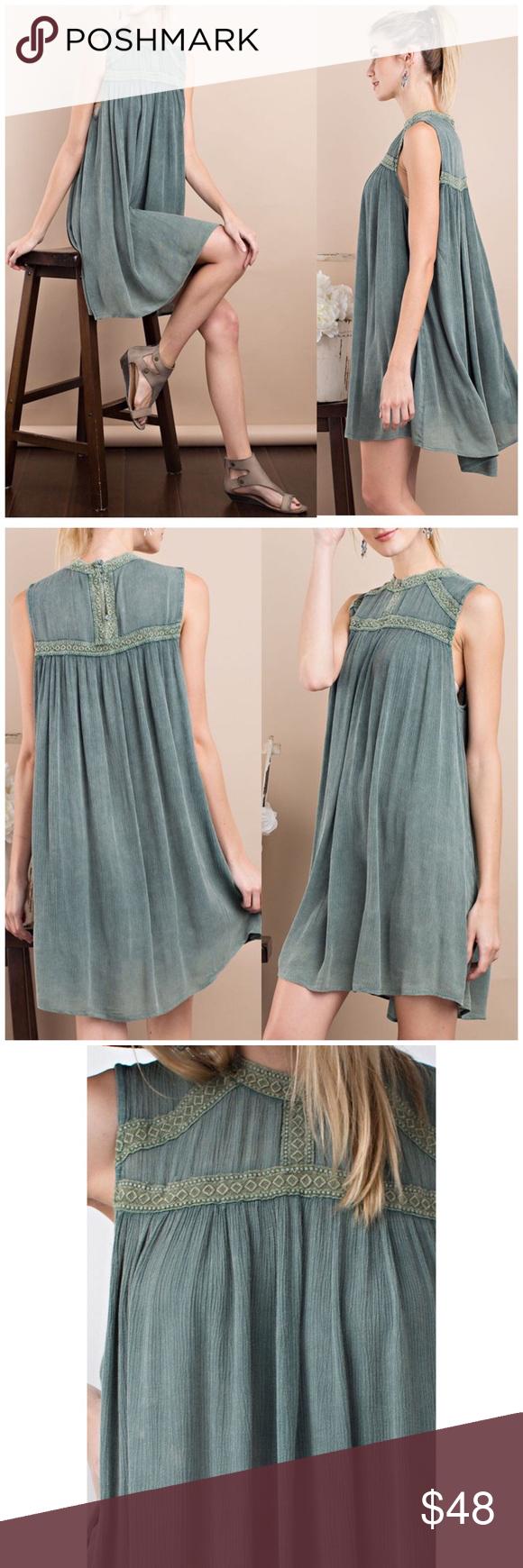 🌻3 for $25 Wormwood Crochet Detail Dress