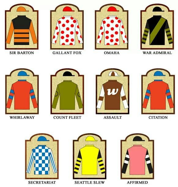 Triple Crown Winners Silks Triple Crown Winners Triple Crown