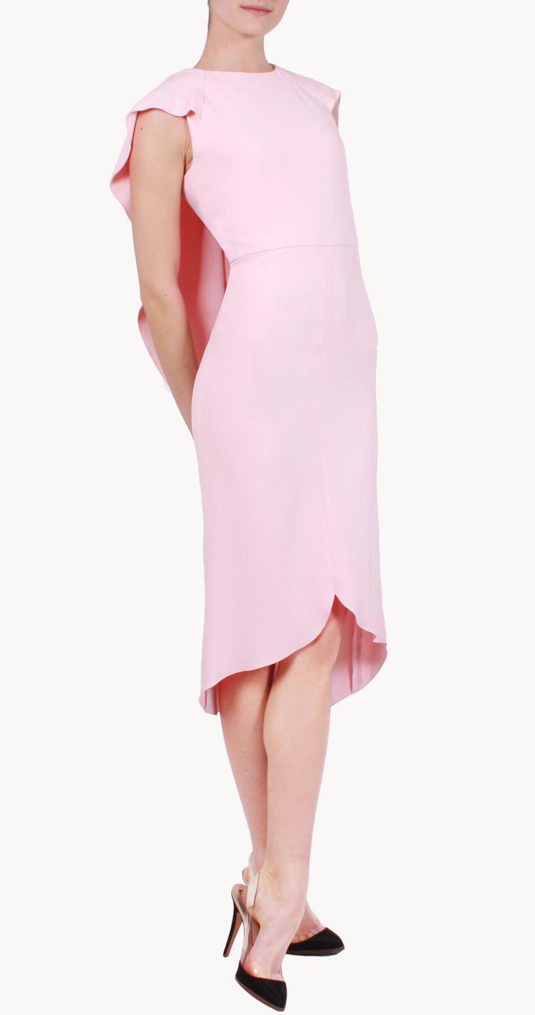 Vestido midi rosa palo con capa | Save the date | Pinterest ...
