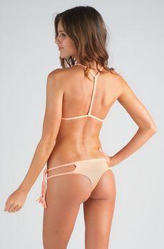 870173a4cf106 2014 San Lorenzo Bikinis Reversible Braided String Bottom in Peach ...