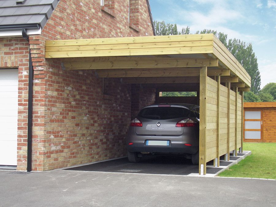 Carport carports enkel carport modern diy for Garage pole automobile marignane