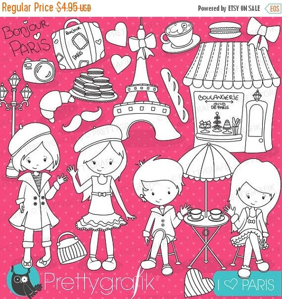 80 off sale paris travel stamps commercial use vector graphics