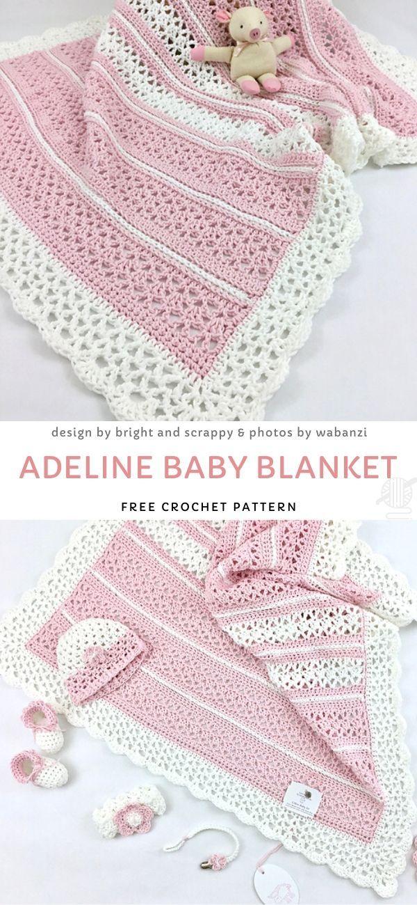Sweet Lace Crochet Blankets - Pattern Center Baby - Baby Crochet