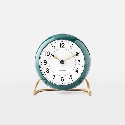 Arne Jacobsen Alarm Clock Green In 2020 Analog Alarm Clock Alarm Clock Clock